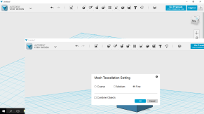 Tessalation settings when exporting to 3D
